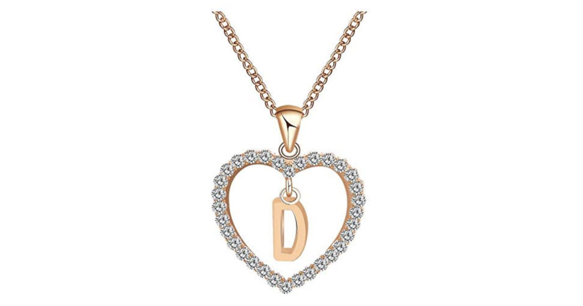 English Letter Name Chain Pendant Necklace ONLY $4.99 Shipped