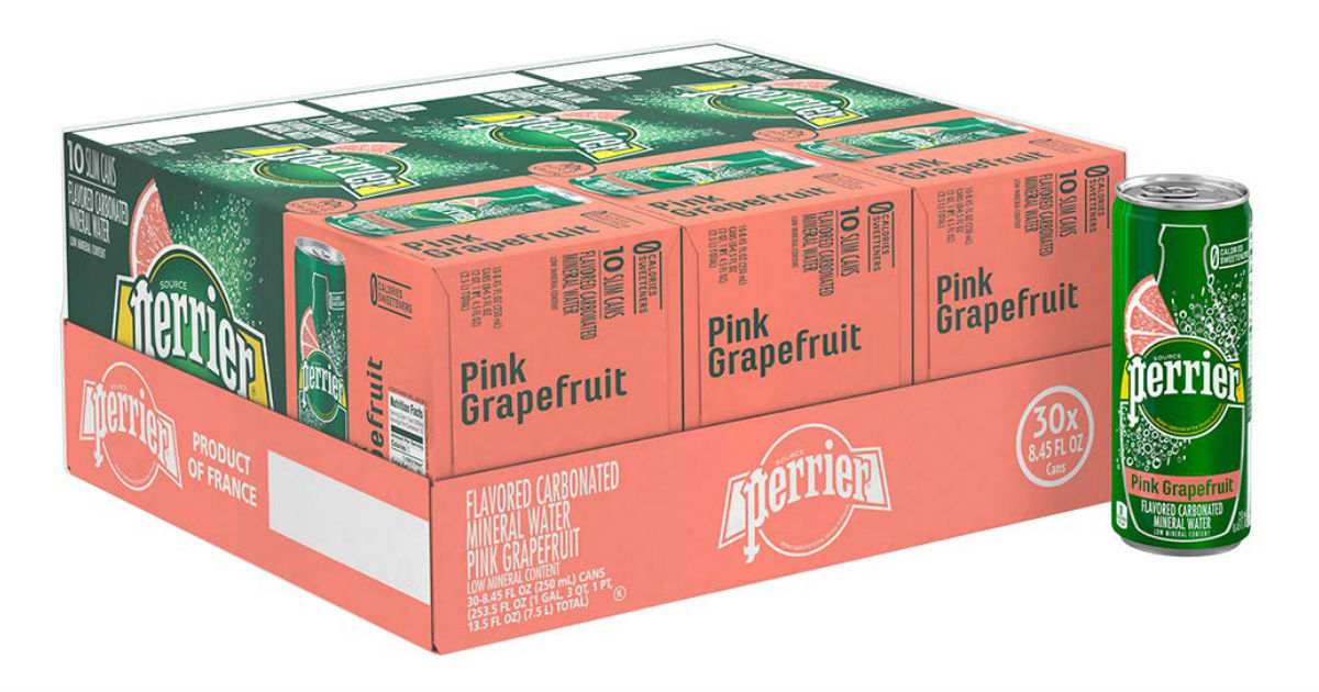 Perrier Sparkling Mineral Water 30-Pack ONLY $11.49 on Amazon