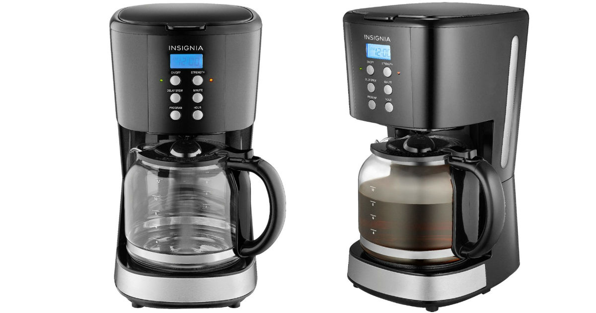 Insignia 12-Cup Coffee Maker ONLY $14.99 (Reg $39.99)