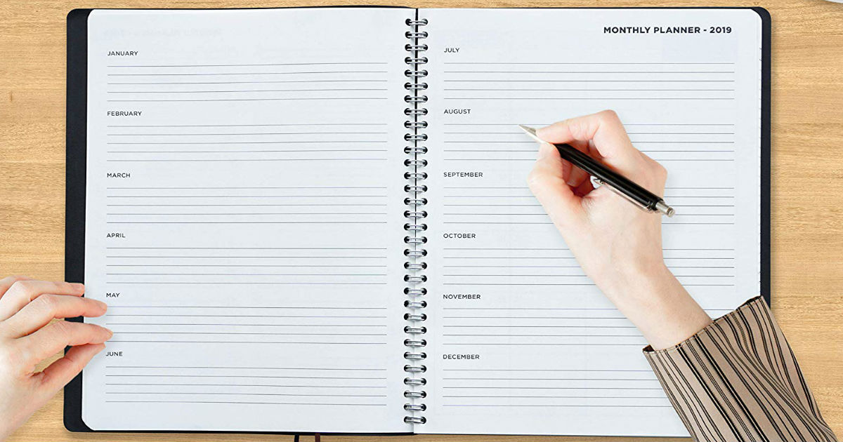 Weekly & Monthly Planner Appointment Book ONLY $7.16 (Reg. $12)
