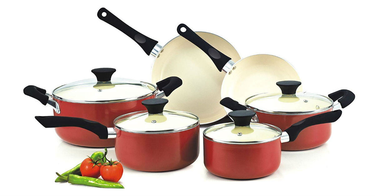 Cook N Home 10-Piece Cookware Set ONLY $45.97 (Reg. $76)