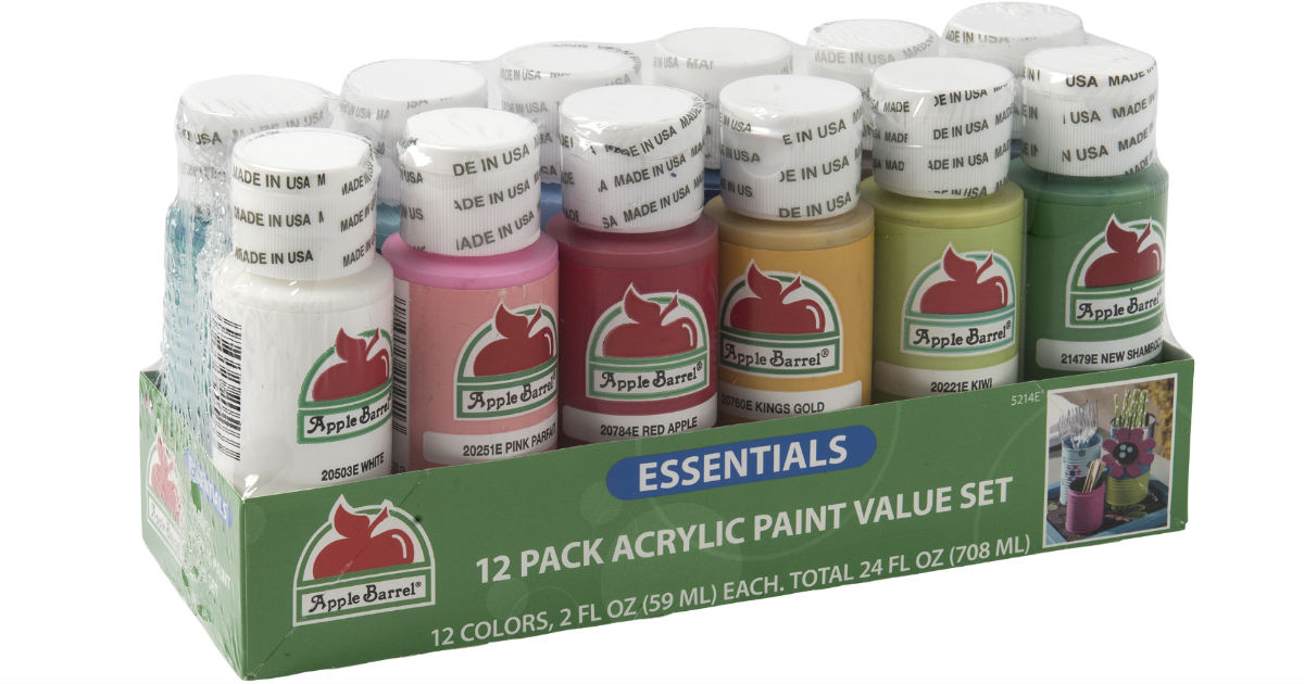 Apple Barrel Essentials 12 Color Paint Set ONLY $4.94 (Reg $10)