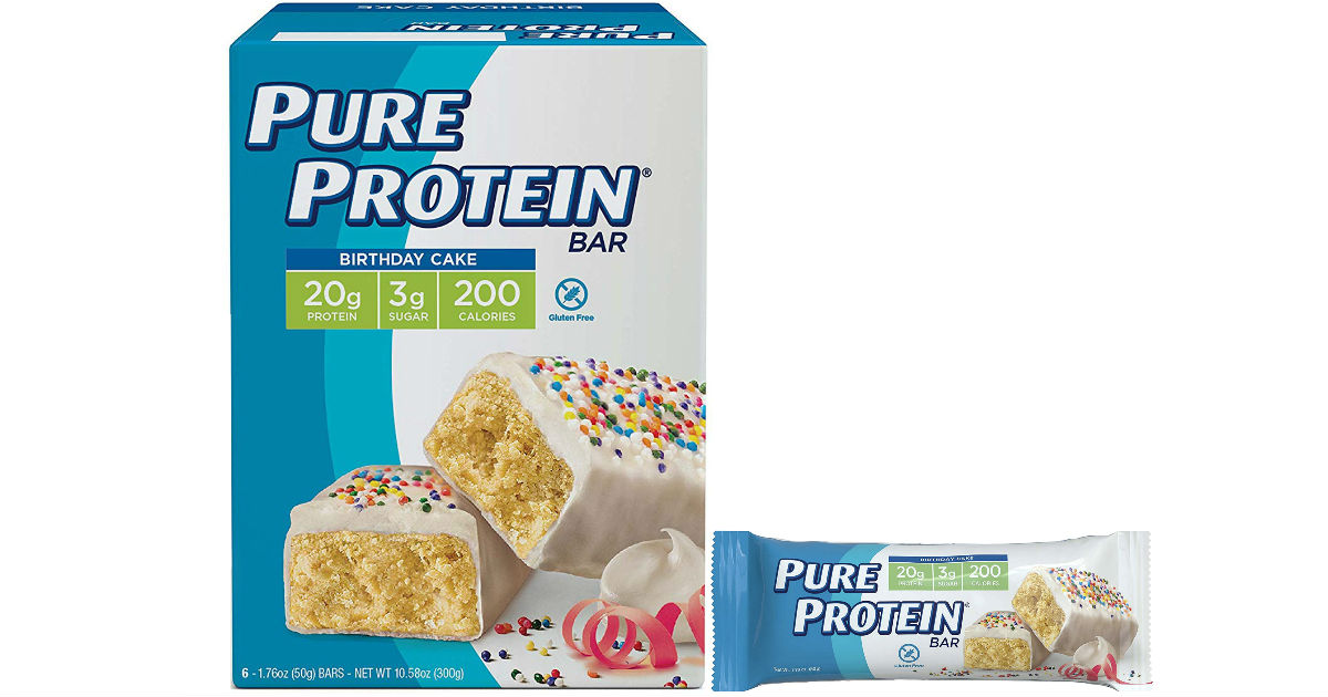Pure Protein Bars Birthday Cake 6-Pk ONLY $3.70 Shipped