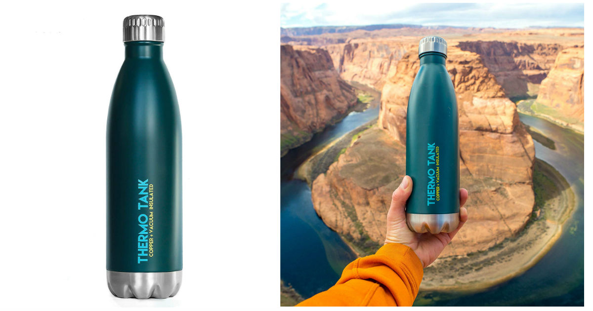 Thermo Tank Insulated Water Bottle ONLY $7.77 (Reg. $27)