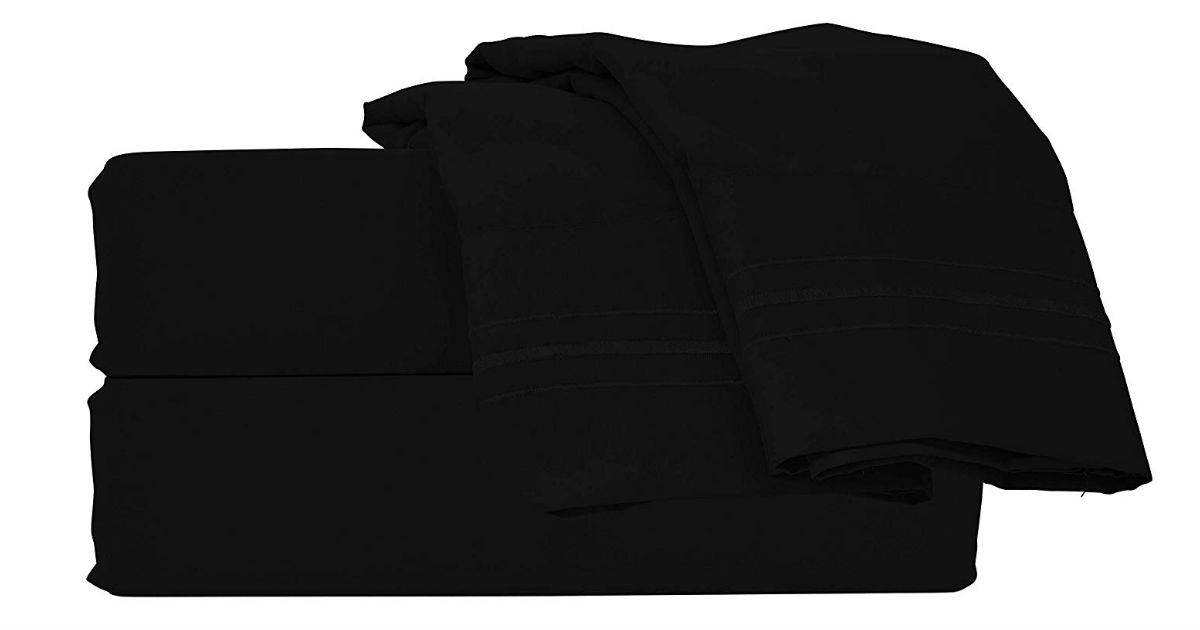 Style Basics Microfiber Bed Sheet Set ONLY $19.49 (Reg. $60)