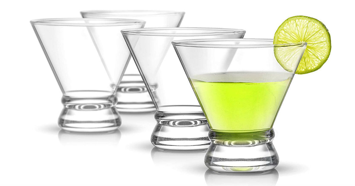JoyJolt 4-Piece Cocktail Glasses ONLY $11.83 (Reg. $25)