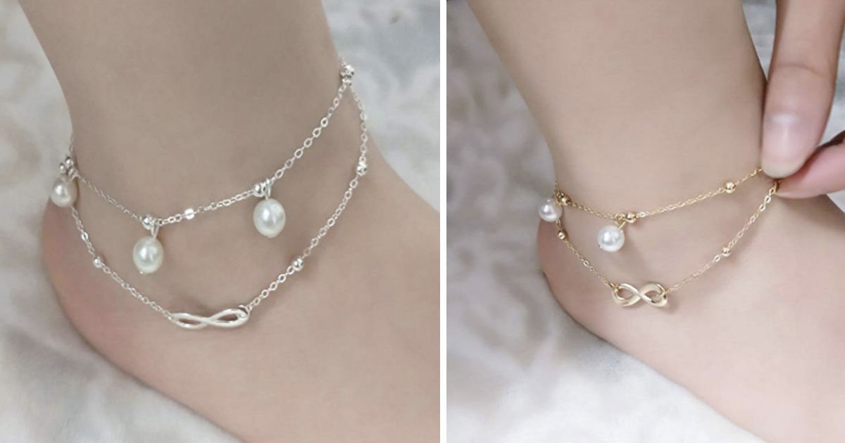 Charm Bead Ankle Bracelet 2 Layers ONLY $2 Shipped