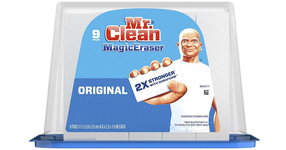 Mr. Clean Magic Eraser 9-ct ONLY $5.99 on Amazon