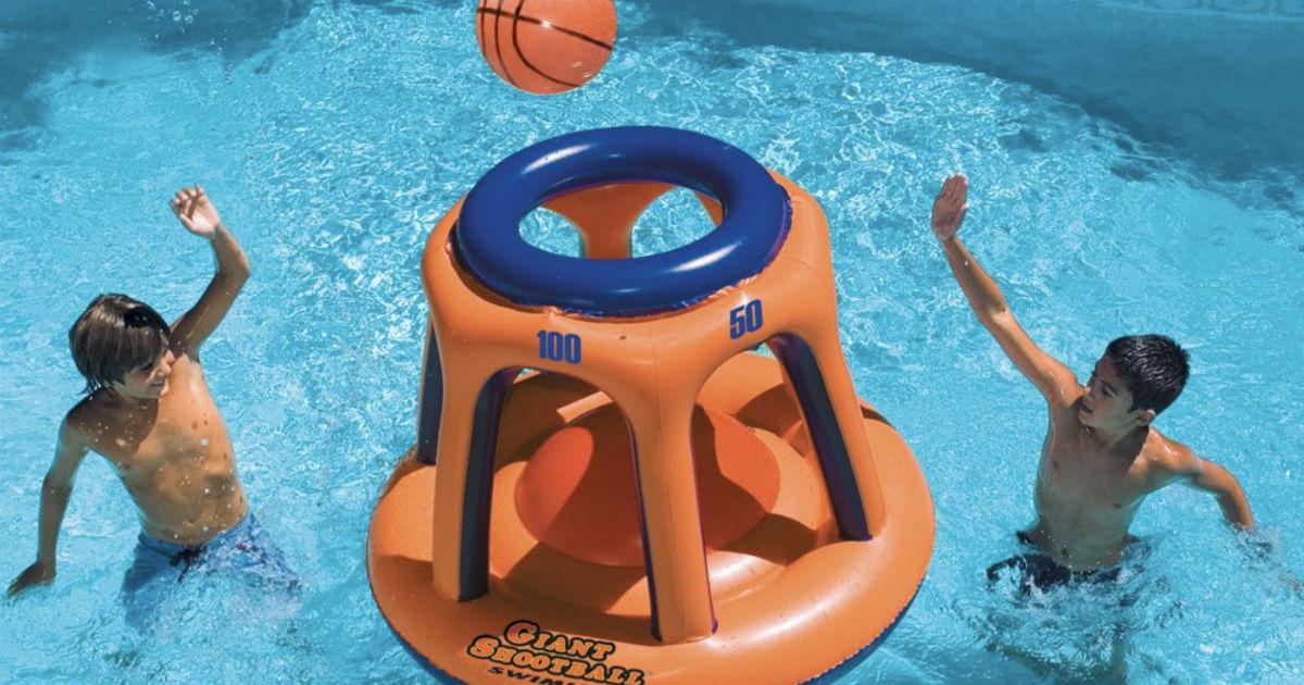 Basketball Hoop Shootball Inflatable Pool Toy ONLY $19.99 (Reg $80)