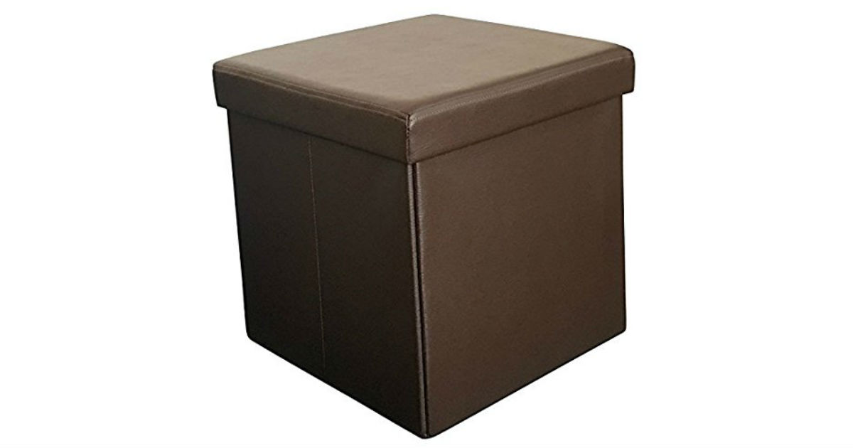 Sodynee Faux Leather Storage Ottoman ONLY $25.99 (Reg. $50)