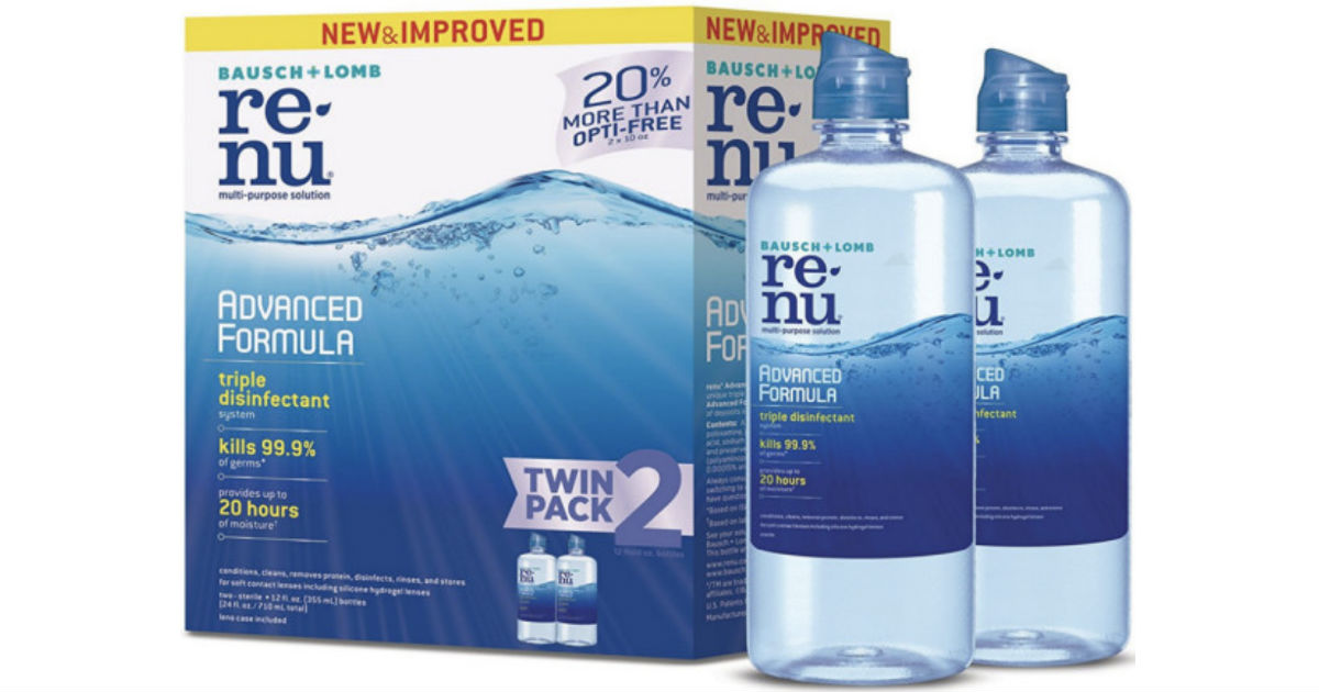 Renu Advanced Formula Twin Pack ONLY $7.99 at Target (Reg $14)