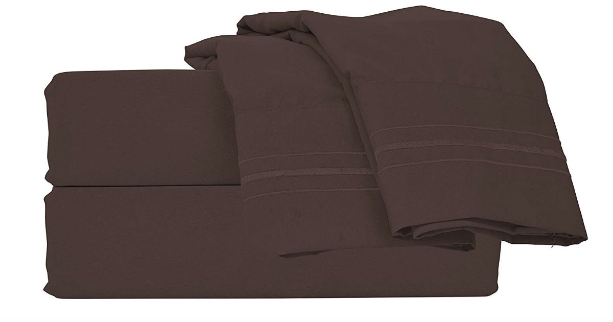 Microfiber Queen Bed Sheets ONLY $16.49 (Reg. $60)