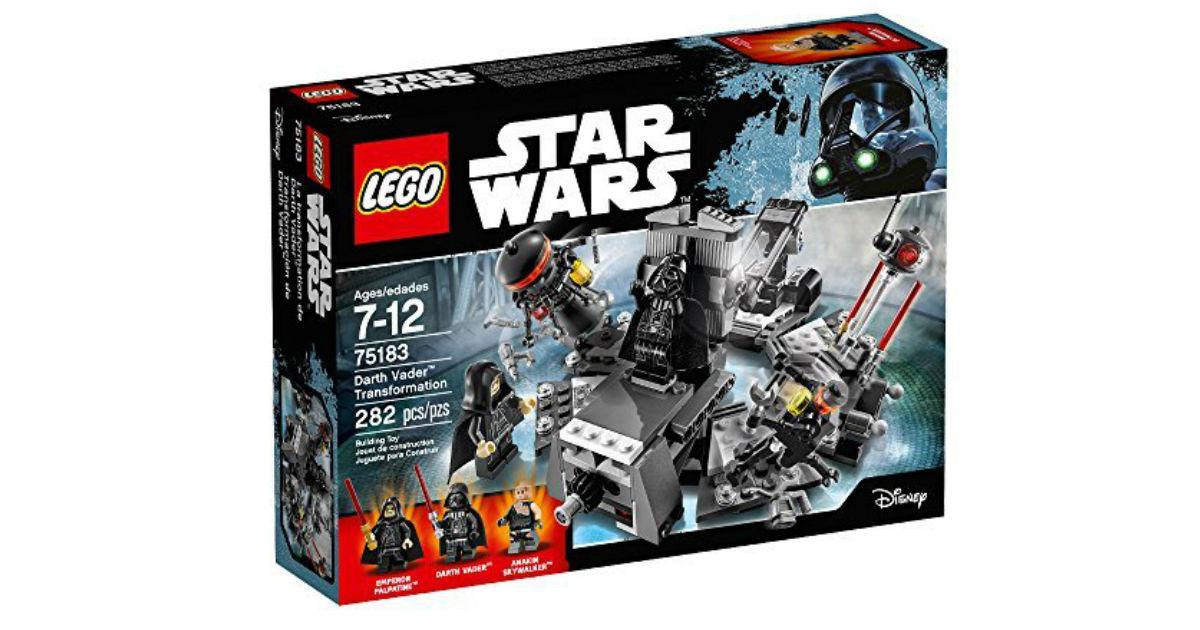 LEGO Star Wars Darth Vader Kit ONLY $14.99 (Reg. $25)