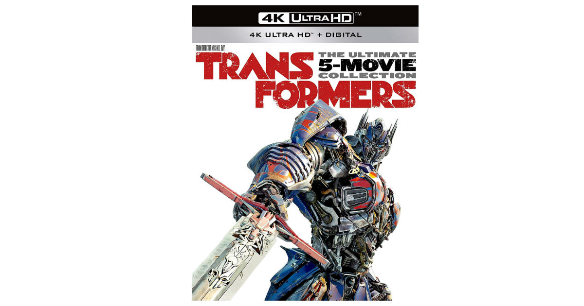 Transformers Ultimate 4K 5-Movie Collection $49.99 (Reg. $84)