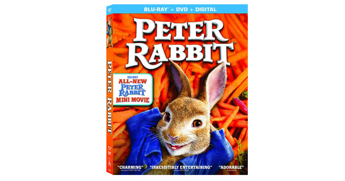 Peter Rabbit Blu-ray DVD ONLY $9.99 (Reg. $20)