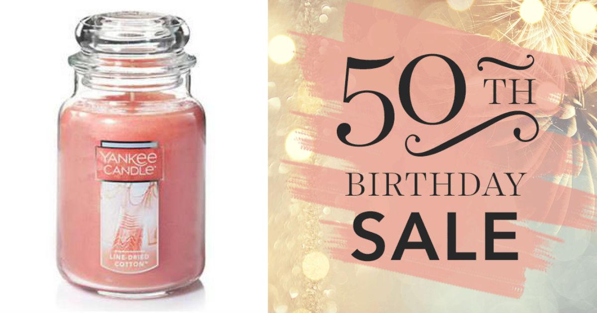 Yankee Candle 50th Birthday Sale