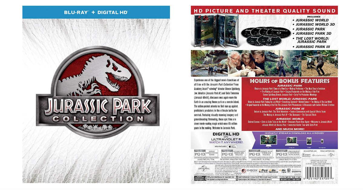 Jurassic Park Collection Blu-r...