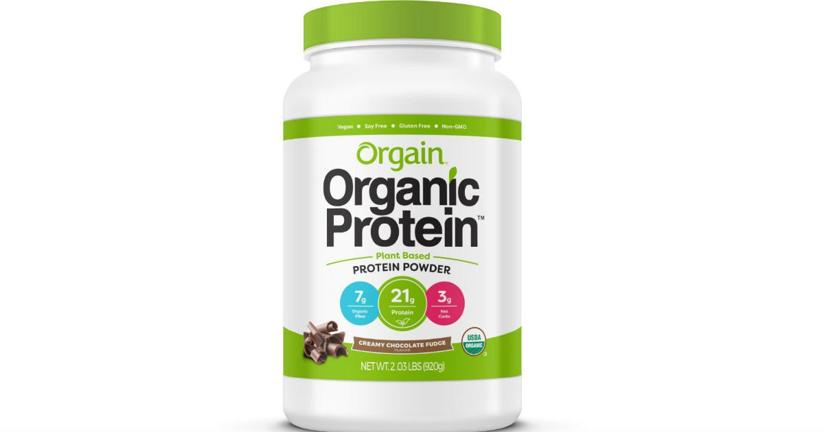 Orgain Organic Plant Based Protein Powder ONLY $16.78 Shipped