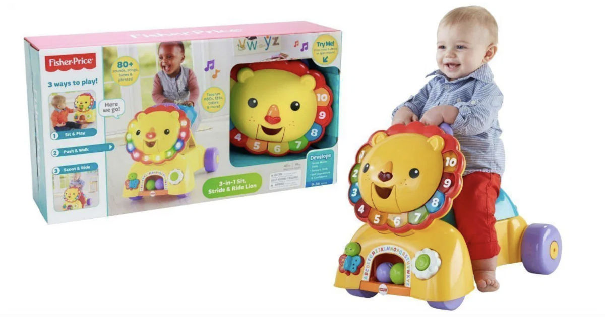 Fisher-Price 3-in-1 Sit Stride & Ride Lion ONLY $28.08 (Reg $45)