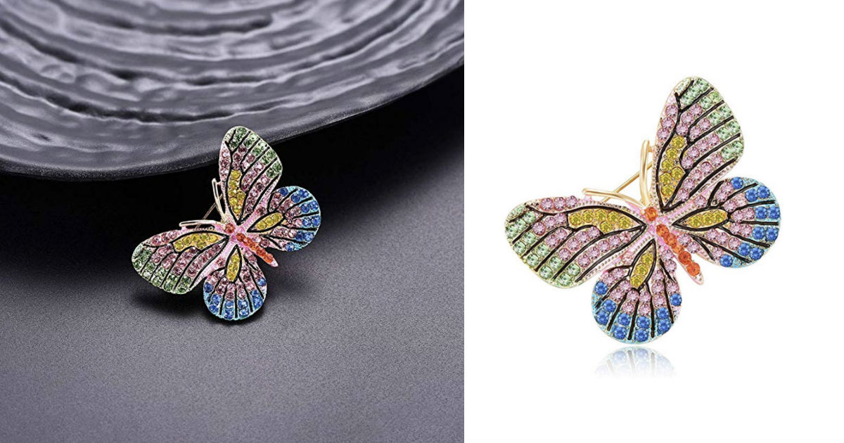 Butterfly Brooch Insect Colorf...
