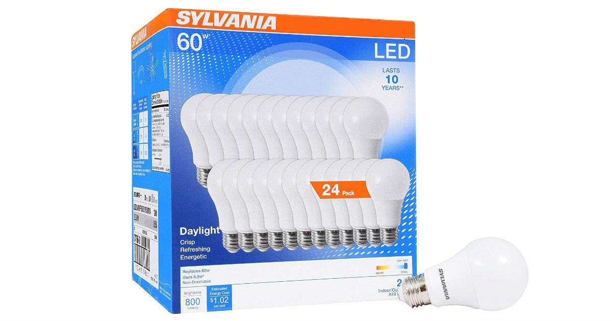 Sylvania Home LED Light Bulbs 24-Pack ONLY $25.19 (Reg. $40)