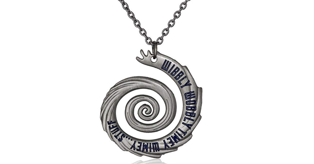 Doctor Who Wibbly Wobbly Timey Wimey Necklace ONLY $3.75 Shipped