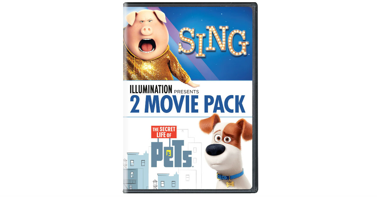 Sing/The Secret Life of Pets 2-Movie Pack ONLY $10.99 (Reg. $23)