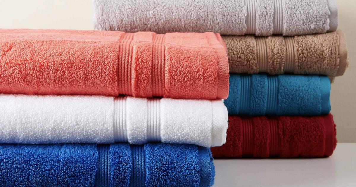Mainstays Solid Cotton Towel 6-Pcs Set ONLY $7.99 (Reg $18.36)