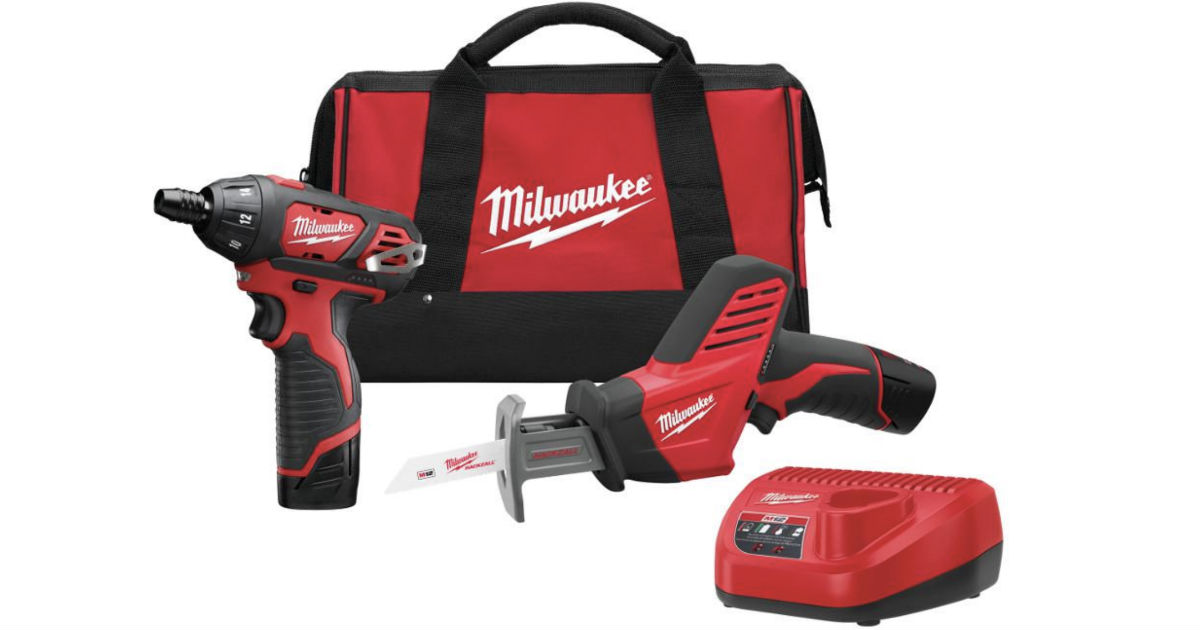 Milwaukee Cordless Screwdriver Combo Kit ONLY $99 (Reg $185)