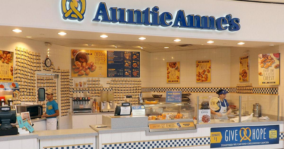 FREE Pretzel at Auntie Annes