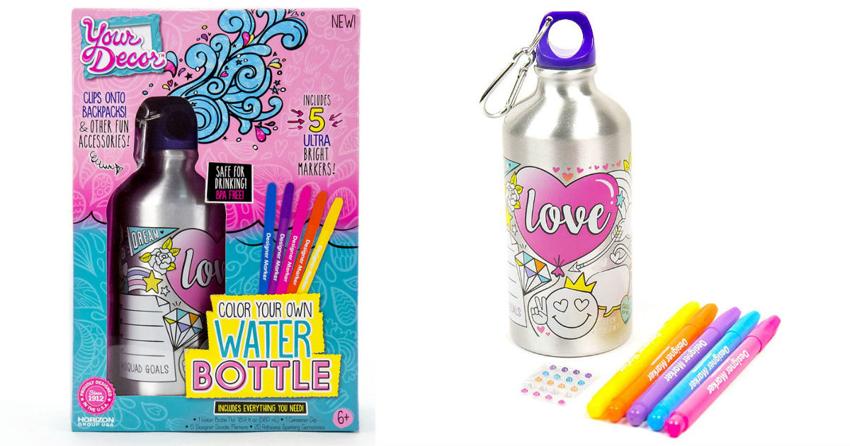 Color Your Own Water Bottle Kit ONLY $5.58 (Reg. $13)