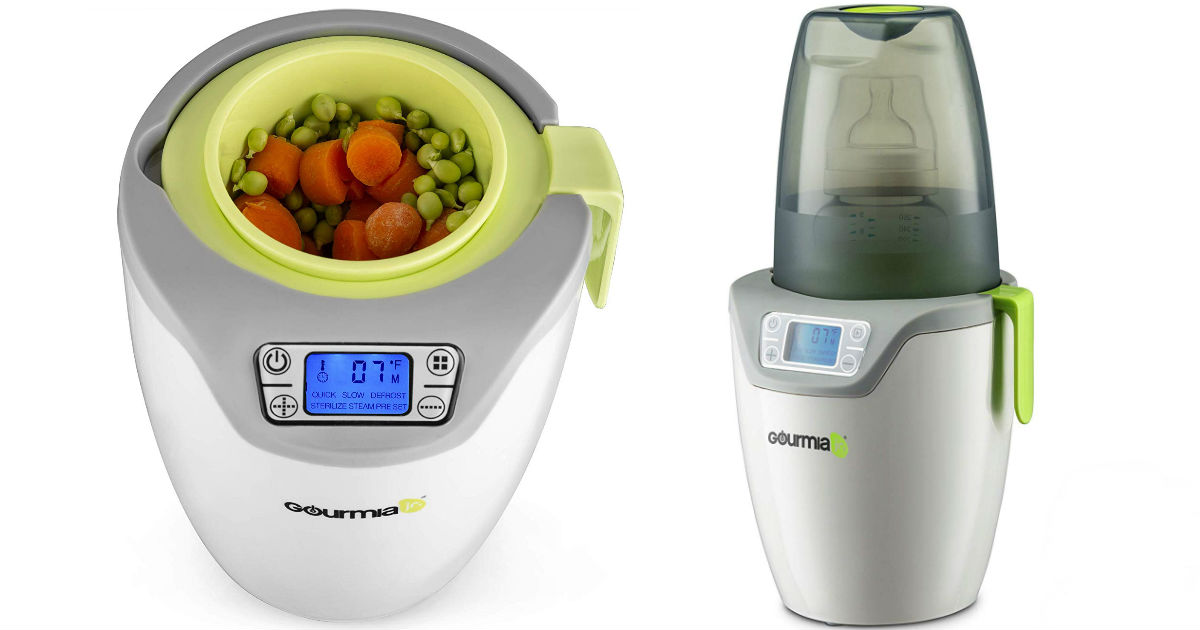 Gourmia Jr. Single Baby Bottle Sterilizer and Warmer ONLY $20.99