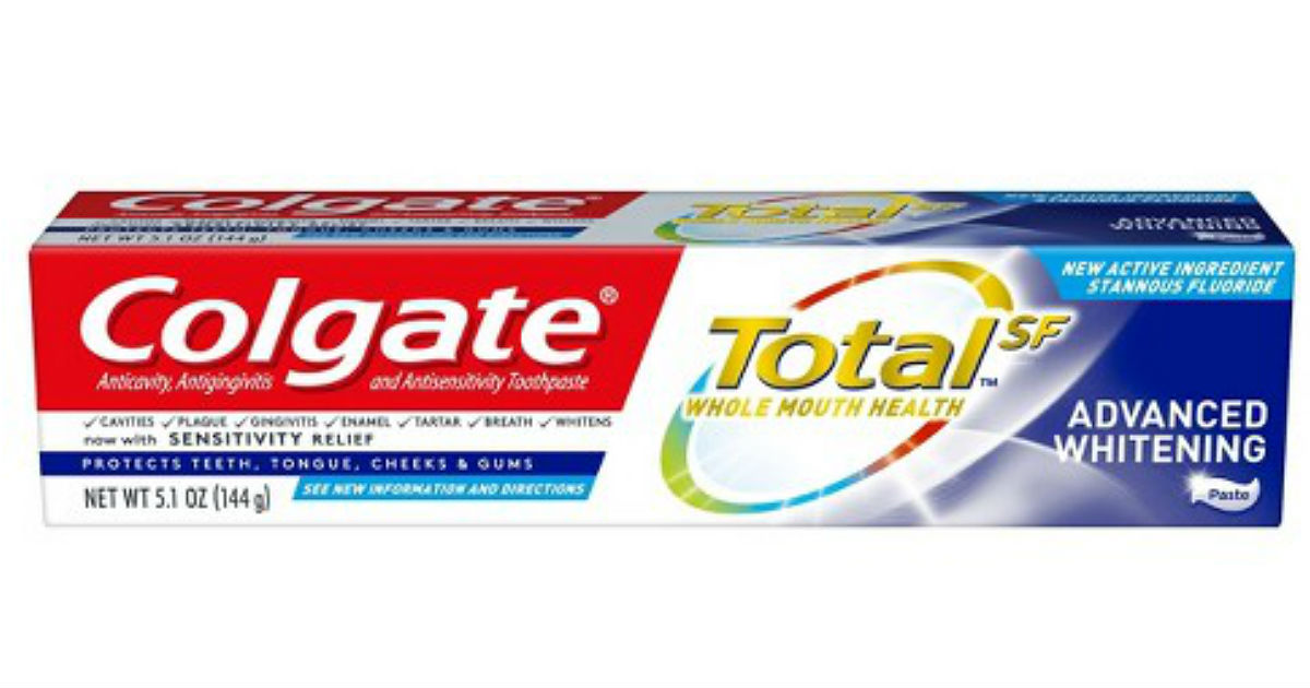 Colgate TotalSF Advanced Toothpaste ONLY $0.22 at Walmart