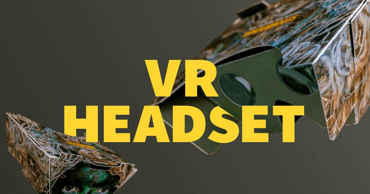 FREE U.S. Army Cardboard VR He...