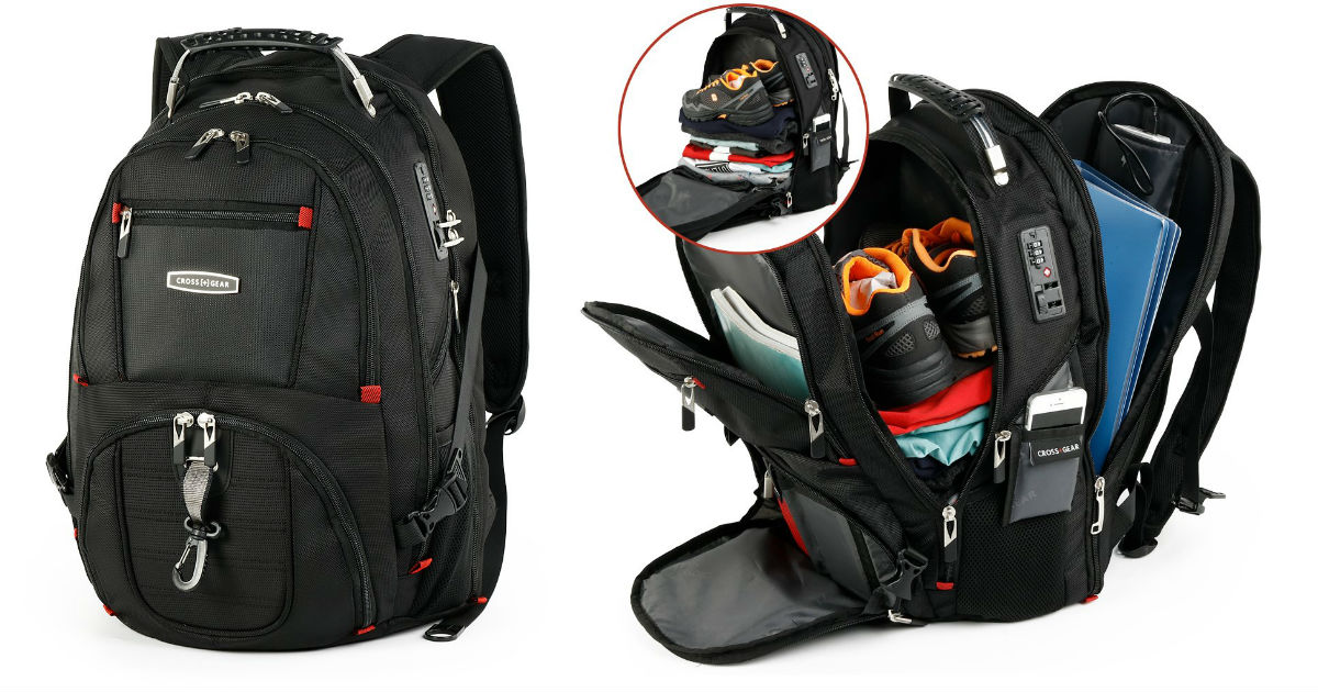 Cross Gear TSA Laptop Backpack...