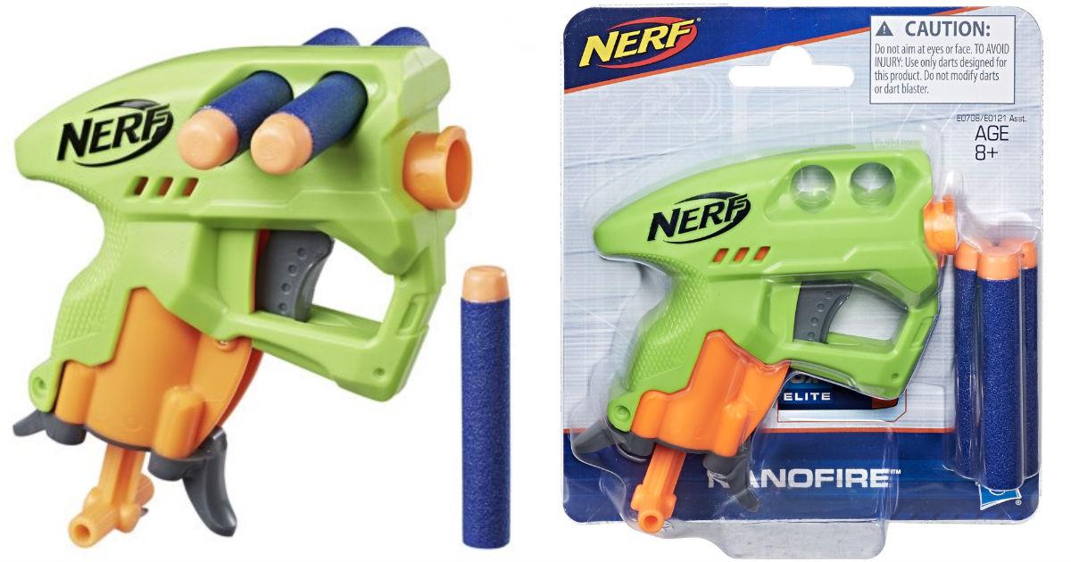 NERF N-Strike NanoFire Blaster (Green) ONLY $2.41 at Walmart