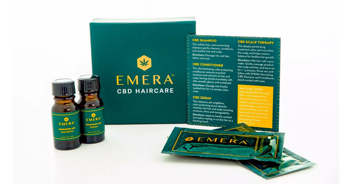 FREE EMERA CBD Haircare Sample...