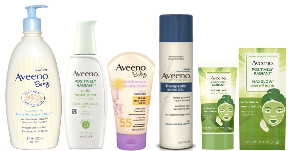 $19 in NEW Aveeno Printable Coupons