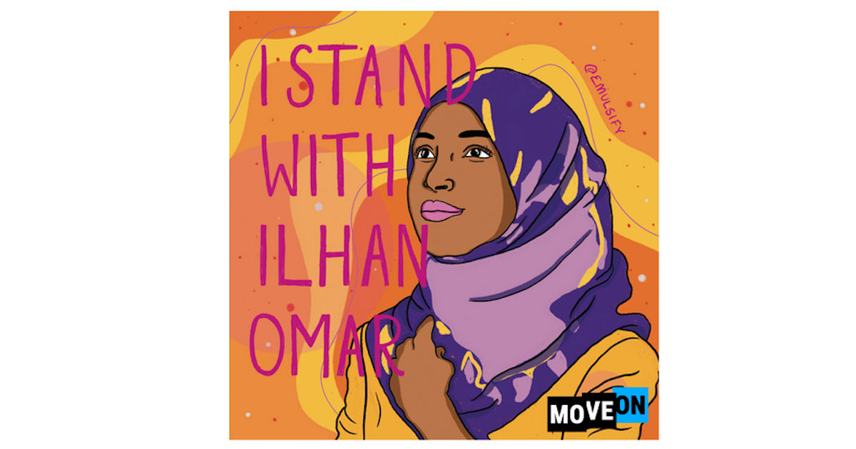 FREE I Stand with Ilhan Sticke...