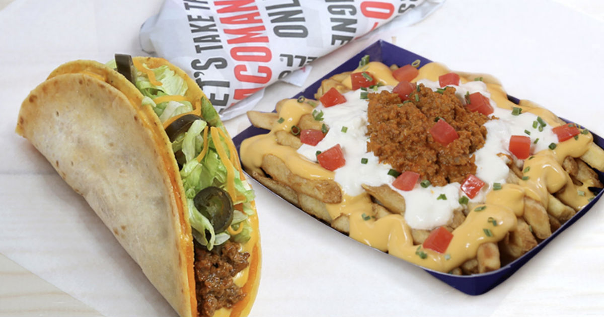 photograph about Taco Bell Printable Coupons named $6 for Any Double Layer Taco, A person Crunchy Beef and Fries