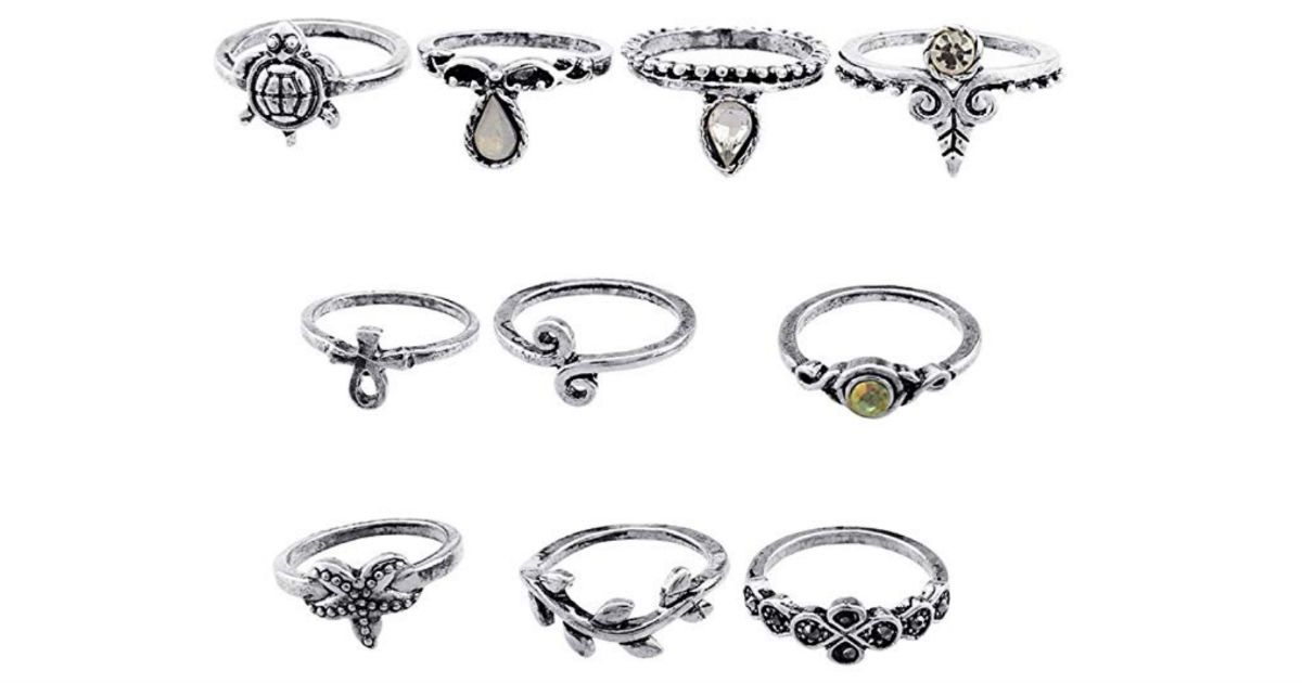 Vintage Bohemian Knuckle Rings Set 10-Piece ONLY $5 Shipped