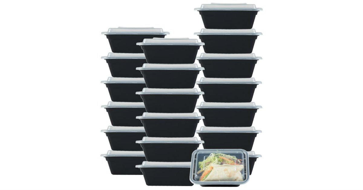 NutriBox Meal Prep Containers 20-Pack ONLY $9.34 (Reg. $26)