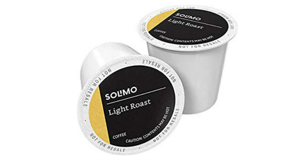 Solimo Light Roast Coffee K-Cup Pods 100 ct ONLY $17.54