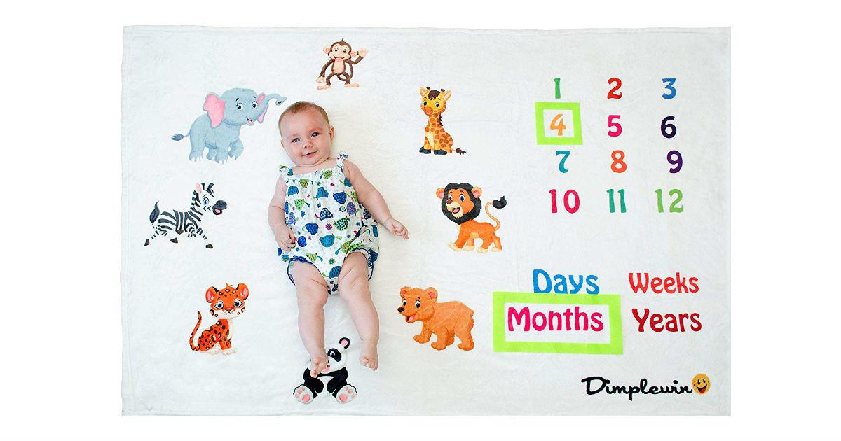 Baby Monthly Milestone Blanket ONLY $15.99 (Reg. $33)