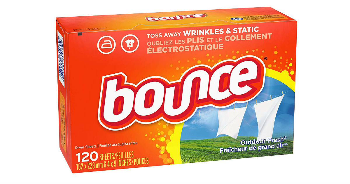 Bounce Dryer Sheets 120-Count ONLY $2.26 on Amazon
