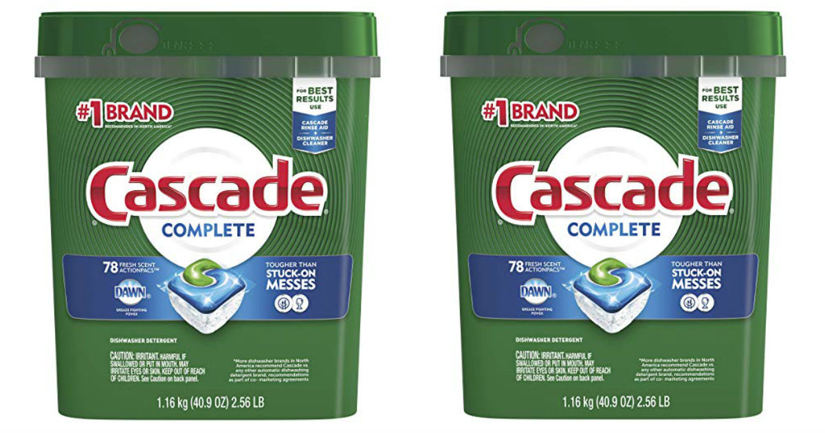 Cascade ActionPacs Dishwasher Detergent ONLY $9.70 Shipped
