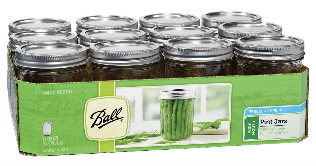 Ball Glass Mason Jars 12-Pack for ONLY $5.99 at Target