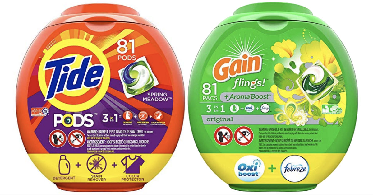 Tide Pods or Gain Flings 81-ct ONLY $13.97 Shipped