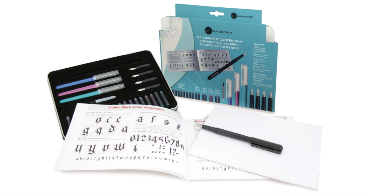 Manuscript Calligraphy Compendium Set 27-Pc ONLY $6.39 (Reg $26)