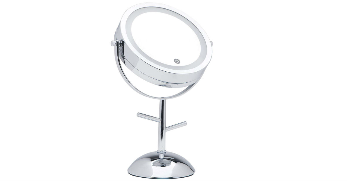 LED Lighted Magnifying Makeup Mirror ONLY $19.62 (Reg. $40)
